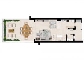 Plan1_Green_Golf_townhouses_Estepona_Groundfloor